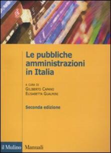Le pubbliche amministrazioni in Italia - copertina
