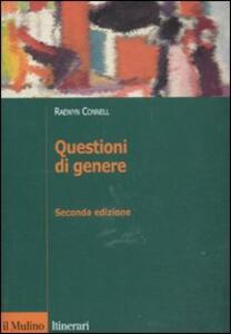 Questioni di genere - Robert W. Connell - copertina