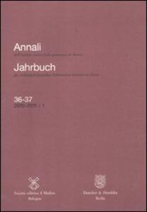Annali dell'Istituto storico italo-germanico in Trento (2010-2011). Voll. 36-37 - copertina