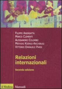 Foto Cover di Relazioni internazionali, Libro di  edito da Il Mulino