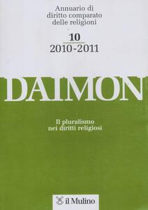 Daimon. Annuario di diritto comparato delle religioni (2010-2011). Vol. 10 - copertina