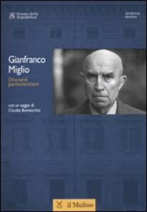 Discorsi parlamentari - Gianfranco Miglio - copertina