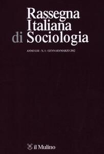 Rassegna italiana di sociologia (2012). Vol. 1 - copertina