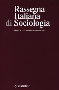 Rassegna italiana di sociologia (2012). Vol. 3 - copertina