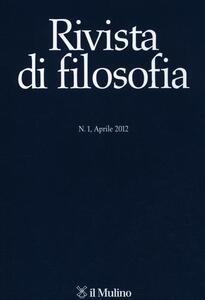Rivista di filosofia (2012). Vol. 1 - copertina