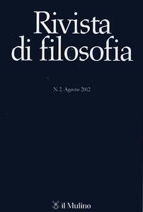 Rivista di filosofia (2012). Vol. 2 - copertina