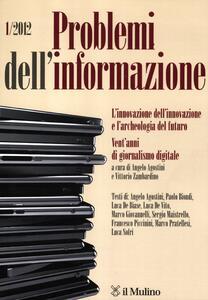 Problemi dell'informazione (2012). Vol. 1 - copertina