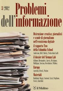 Problemi dell'informazione (2012). Vol. 3 - copertina