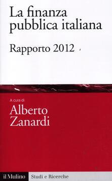 Warholgenova.it La finanza pubblica italiana. Rapporto 2012 Image