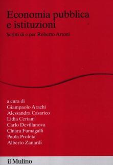 Cefalufilmfestival.it Economia pubblica e istituzioni. Scritti di e per Roberto Artoni Image