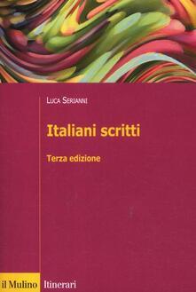 Italiani scritti - Luca Serianni - copertina