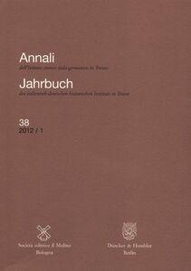 Libro Annali dell'Istituto storico italo-germanico in Trento (2012). Vol. 38