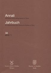 Annali dell'Istituto storico italo-germanico in Trento (2012). Vol. 38