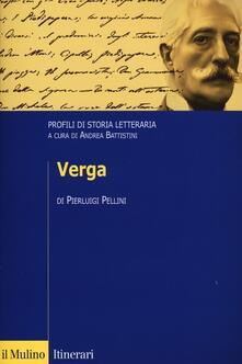 Verga. Profili di storia letteraria - Pierluigi Pellini - copertina