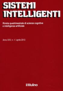 Sistemi intelligenti (2013). Vol. 1 - copertina