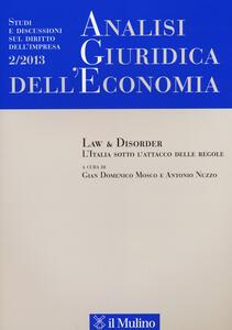 Analisi giuridica dell'economia (2013). Vol. 2 - copertina
