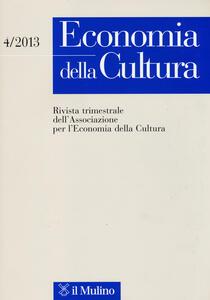 Economia della cultura (2013). Vol. 4 - copertina