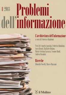 Vitalitart.it Problemi dell'informazione (2013). Vol. 1 Image