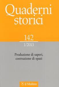 Quaderni storici (2013). Vol. 1 - copertina