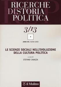 Ricerche di storia politica (2013). Vol. 3 - copertina