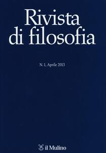 Rivista di filosofia (2013). Vol. 1 - copertina