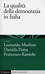La qualità della democrazia in Italia - copertina