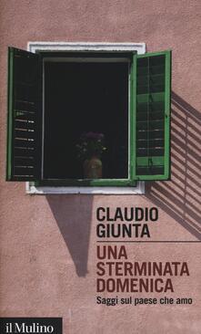 Una sterminata domenica. Saggi sul paese che amo - Claudio Giunta - copertina