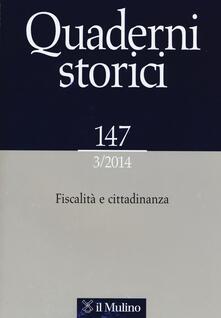 Lpgcsostenible.es Quaderni storici (2014). Vol. 3: Fiscalità e cittadinanza. Image