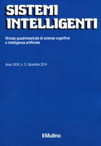Sistemi intelligenti (2014). Vol. 3 - copertina