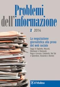 Problemi dell'informazione (2014). Vol. 1 - copertina