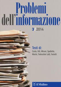 Problemi dell'informazione (2014). Vol. 3 - copertina