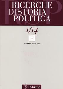 Ricerche di storia politica (2014). Vol. 1 - copertina