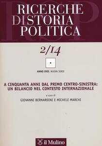 Ricerche di storia politica (2014). Vol. 2 - copertina