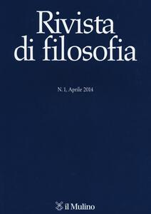 Rivista di filosofia (2014). Vol. 1 - copertina