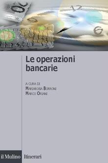 Le operazioni bancarie - copertina