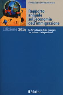Rapporto annuale sull'economia dell'immigrazione 2014 - copertina