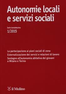 Autonomie locali e servizi sociali (2015). Vol. 1
