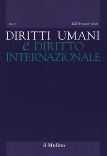 Diritti umani e diritto internazionale (2015). Vol. 2 - copertina