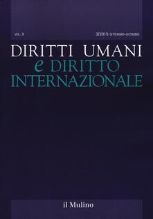 Diritti umani e diritto internazionale (2015). Vol. 3 - copertina