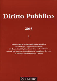Diritto pubblico (2015). Vol. 2 - copertina