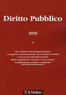 Diritto pubblico (2015). Vol. 3 - copertina