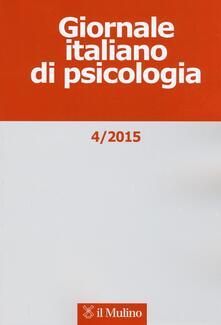 Giornale italiano di psicologia (2015). Vol. 4 - copertina