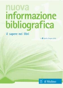 Nuova informazione bibliografica (2015). Vol. 1 - copertina