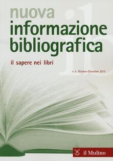 Nuova informazione bibliografica (2015). Vol. 4 - copertina