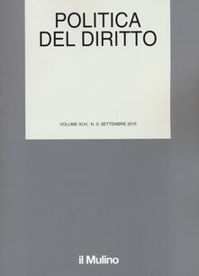 Politica del diritto (2015). Vol. 3 - copertina