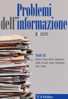 Secchiarapita.it Problemi dell'informazione (2015). Vol. 2 Image