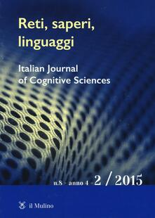Reti, saperi, linguaggi (2015). Vol. 2 - copertina