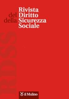 Rivista del diritto della sicurezza sociale (2015). Vol. 1 - copertina