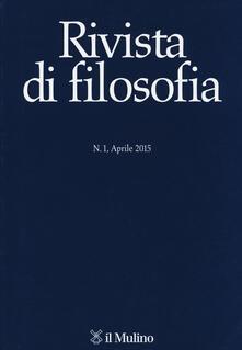 Rivista di filosofia (2015). Vol. 1 - copertina
