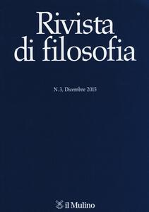 Rivista di filosofia (2015). Vol. 3